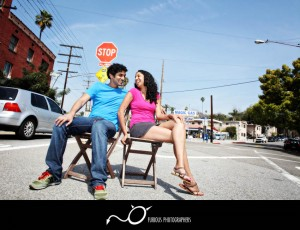 echo park los angeles engagement photography