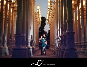 lacma engagement photography