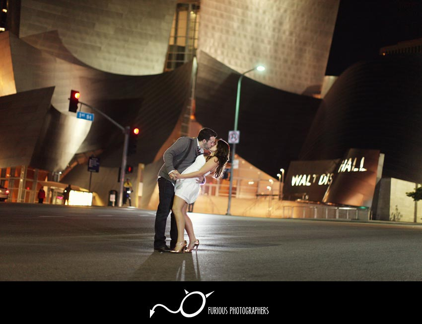 los angeles engagement portraits