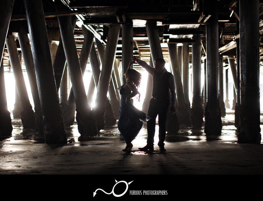 santa monica engagement portraits