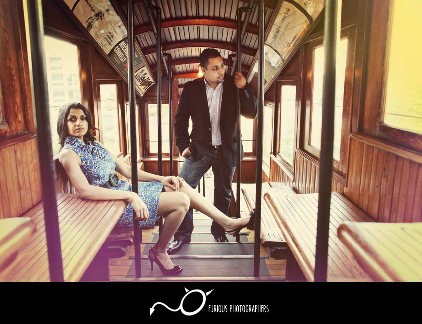 stylish los angeles engagement photos
