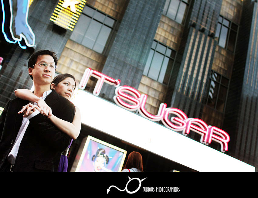 universal city walk engagement photos