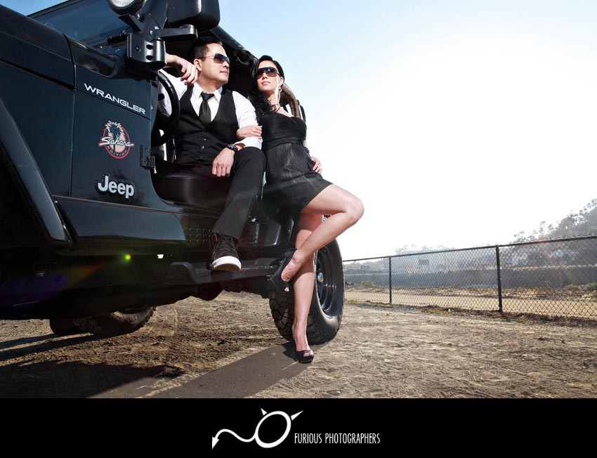 edgy los angeles engagement photography